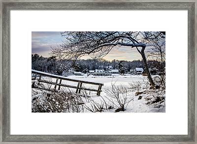 Squeteague Harbor Winter Framed Print