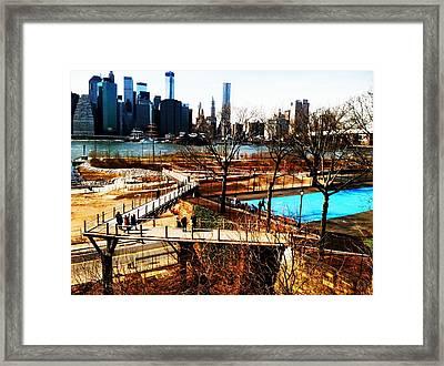 Squibb Park Bridge Framed Print by Frank Winters