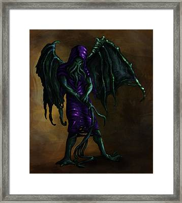 Squid Creature  Framed Print by Kerstin Carrion