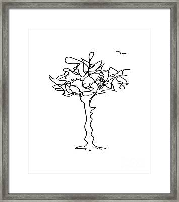Squiggle Tree 1 Framed Print