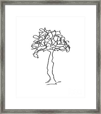 Squiggle Tree 2 Framed Print