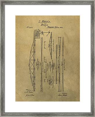 Squire Whipple Truss Bridge Patent Framed Print by Dan Sproul