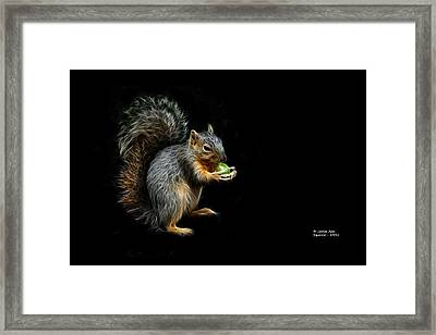 Squirrel - 8331 - F Framed Print by James Ahn