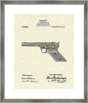 Squirt Gun 1915 Patent Art Framed Print by Prior Art Design