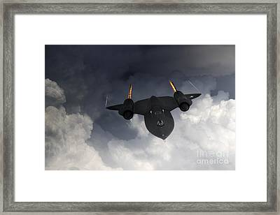 Sr-71 Blackbird Framed Print by J Biggadike