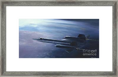 Framed Print featuring the painting Sr-71 by Stephen Roberson