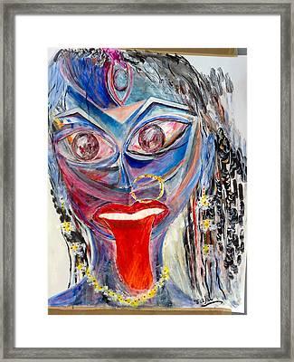 Sreema  Kali Ma Framed Print