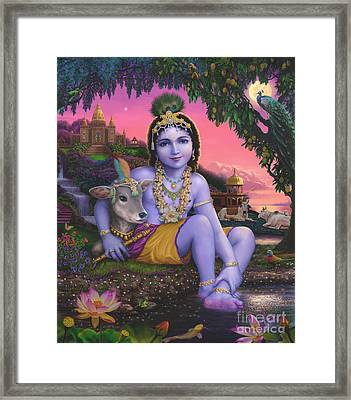 Sri Krishnachandra Framed Print by Vishnudas Art