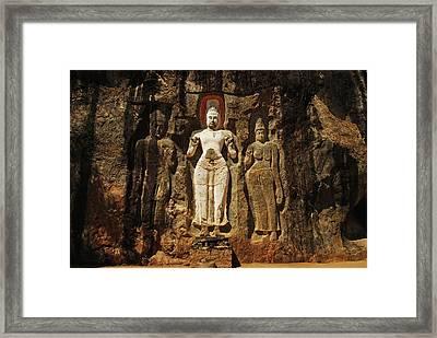 Sri Lanka, Ella, Dhowa Rock Temple Framed Print
