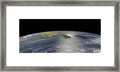 Sri Lanka, Satellite Image Framed Print