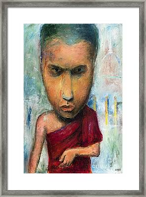 Sri Lankan Monk - 2012 Framed Print by Nalidsa Sukprasert