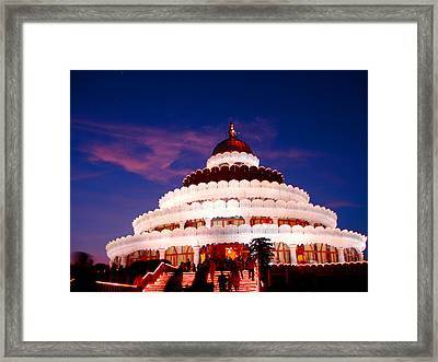 Sri Sri Ravi Shankar Ashram India Framed Print by Sumit Mehndiratta