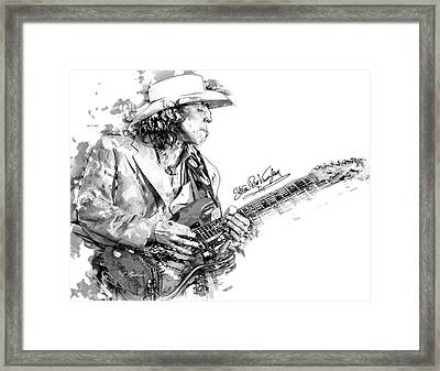 Stevie Ray 1 Framed Print