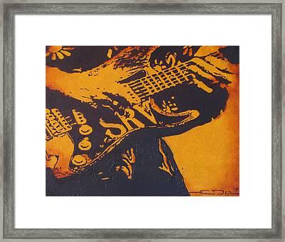 Srv  Number One Fender Stratocaster Framed Print