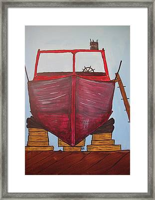 Ss Cricket's Overhaul Framed Print by Keith Nichols