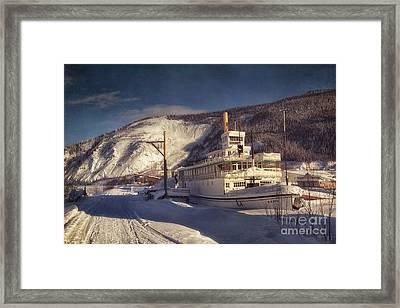 S.s. Keno Sternwheel Paddle Steamer Framed Print by Priska Wettstein