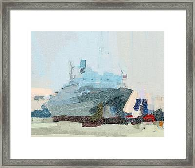 Framed Print featuring the painting Ss Rotterdam by Nop Briex