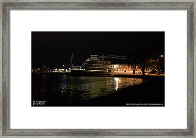 Framed Print featuring the photograph Ss Sicamous - Night Shot by Guy Hoffman