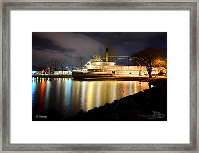 Ss Sicamous Steam Ship 1/21/2014  Framed Print by Guy Hoffman