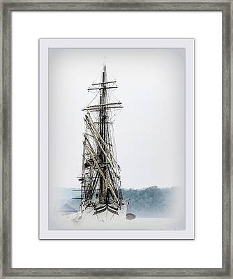 Ss Sorlandet Norwegian Tallship Framed Print