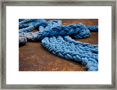 Ss United States Ropes Framed Print