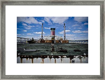 Ss United States Rusted Deck Framed Print