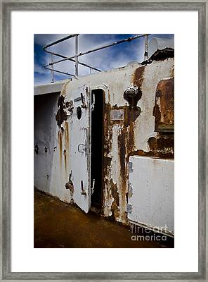 Ss United States Rusted Door Framed Print
