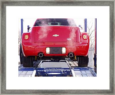 Ssr Transporter Rear View Framed Print
