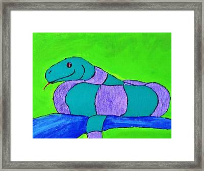 Ssssss Framed Print by Yshua The Painter