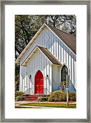St. Alban's Episcopal Framed Print by Linda Brown