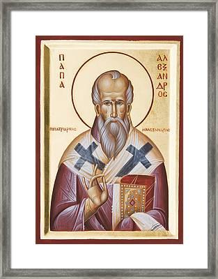 St Alexander Of Alexandria Framed Print by Julia Bridget Hayes