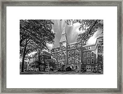 St. Ambrose University Ambrose Hall Framed Print by University Icons