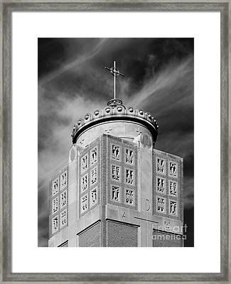 St. Ambrose University Christ The King Chapel Framed Print