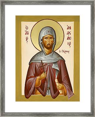 St Anastasios The Persian Framed Print
