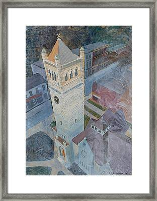 St Andrews Bell Tower Framed Print by David Gilmore