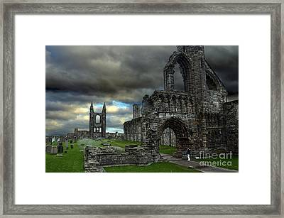St Andrews Cathedral And Gravestones Framed Print by RicardMN Photography