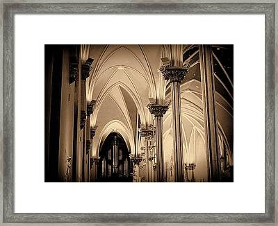 St. Andrews Cathedral Sepia Tone 1800's Architecture Framed Print by Rosemarie E Seppala