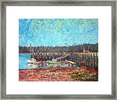 St Andrews Wharf Framed Print