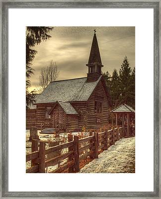 St Anne's Church In Winter Framed Print