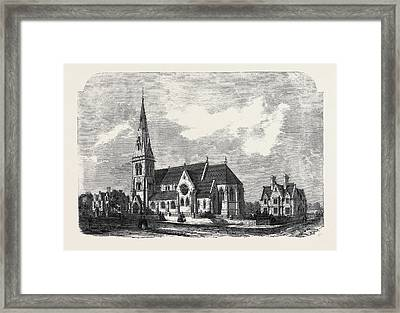 St. Anns Church Parsonage And Schools Hanger Lane Stamford Framed Print by English School