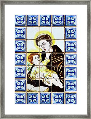 St Anthony Of Padua Framed Print by Christine Till