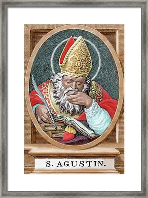 St Augustine (354-430 Framed Print by Prisma Archivo