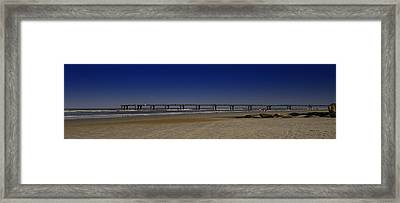 St Augustine Beach Pier Framed Print by Donnell Carr