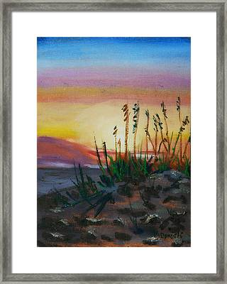 Beach At Sunrise Framed Print