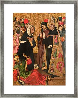 St Augustine Disputing With The Heretics Framed Print by Mountain Dreams