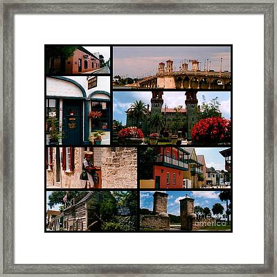 St Augustine In Florida - 1 Collage Framed Print