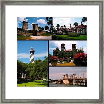 St Augustine In Florida - 2 Collage Framed Print