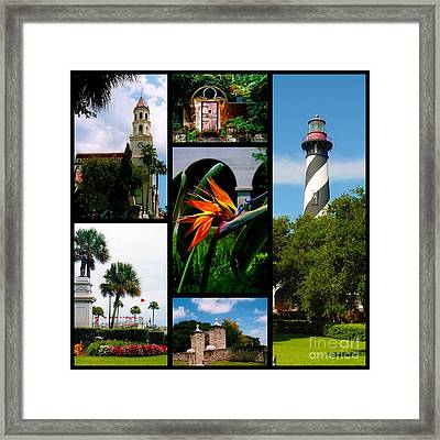 St Augustine In Florida - 3 Collage Framed Print