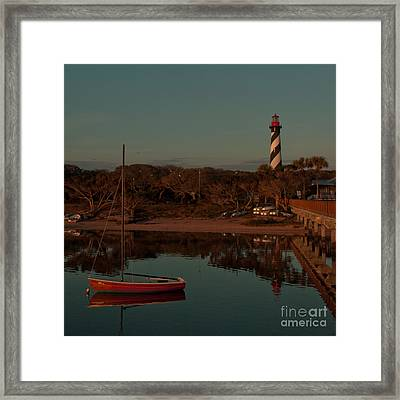 St. Augustine Lighthouse Beach Early Morning Color Framed Print