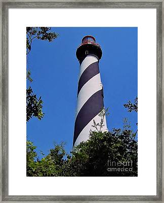 St Augustine Lighthouse Framed Print